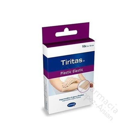 TIRITAS PLASTIC ELASTIC 10 X 6 CM 10 U