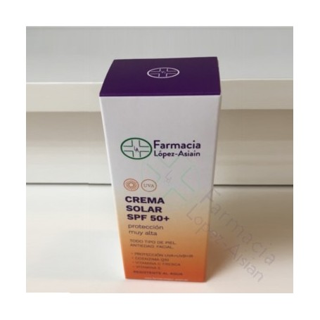 CREMA SOLAR SPF50+ FARMACIA