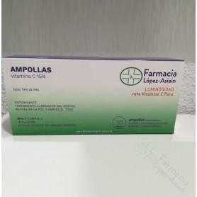 AMPOLLAS VITAMINA C 15% FACIALES (30 ampollas) FARMACIA