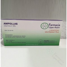 AMPOLLAS VITAMINA C 15% FACIALES (30 ampollas) FARMACIA