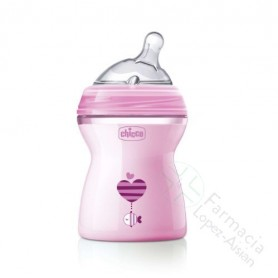 BIBERON CHICCO NATURAL FEELING COLOR ROSA 2M 250ML