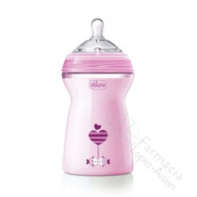 BIBERON CHICCO NATURAL FEELING COLOR ROSA 6M 330ML